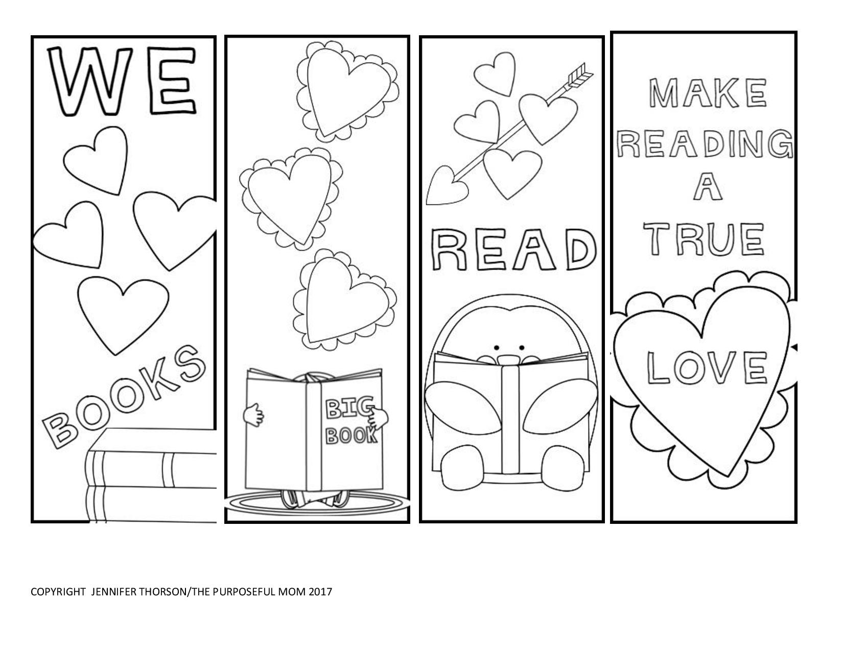 This is a graphic of Vibrant Printable Bookmarks to Color