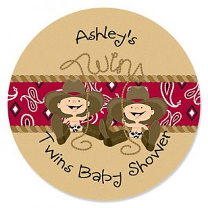 Western Twin Baby Shower Invitations