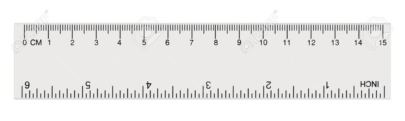 Universal image within centimeter ruler printable