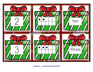 Christmas Number Flash Cards