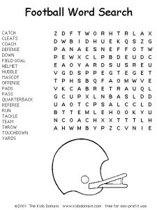 College Football Word Search Puzzles