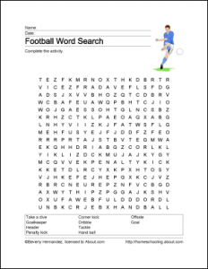 Euro English Football Word Search