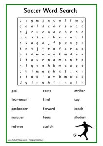 Famous Football Players Word Search Printable