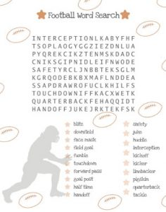 Football Word Search AFL