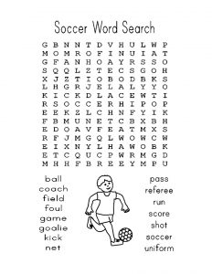 Football Word Search Easy