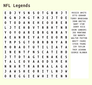 Football Word Search for Kids