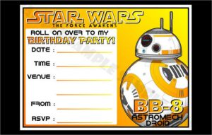 Free Downloadable Star Wars Birthday Invitations