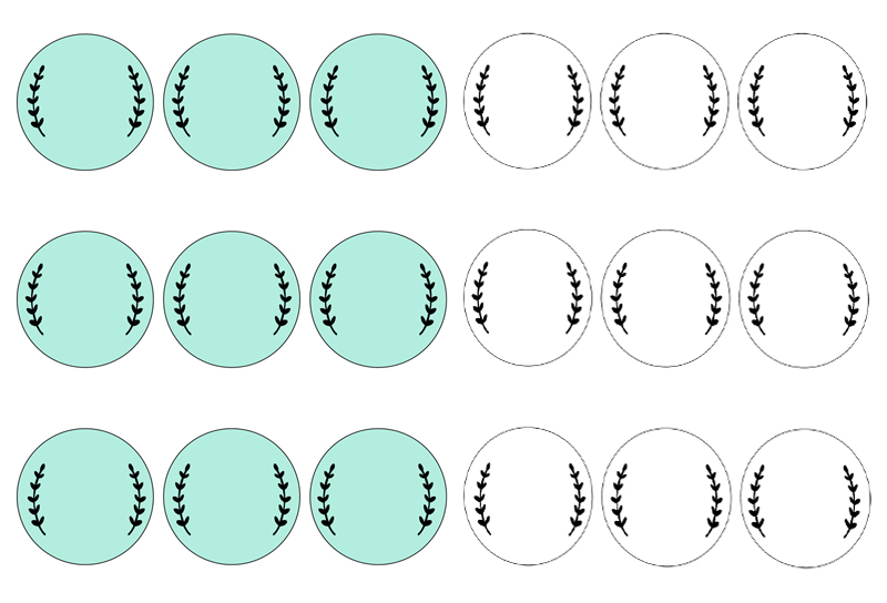 Versatile image regarding circle printable labels