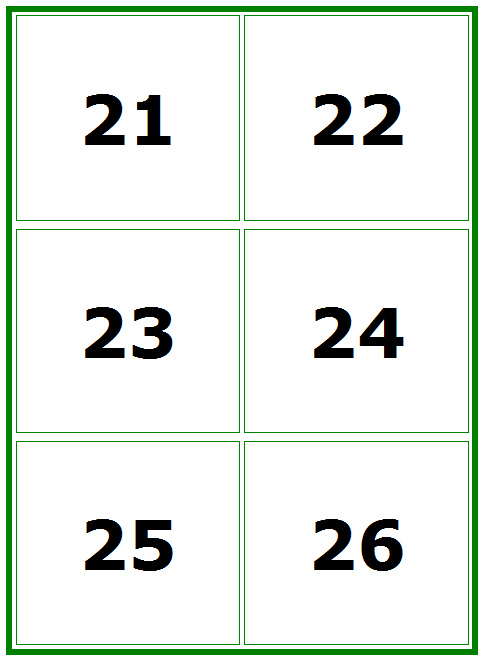 This is a photo of Nifty Printable Number Flashcards