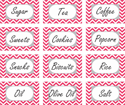 image regarding Printable Pantry Labels known as 30 Attractive Kitchen area or Pantry Labels