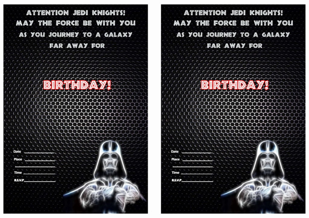 picture about Printable Star Wars Birthday Invitations titled 32 Extraordinary Star Wars Birthday Invites