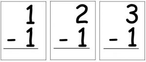 Free Printable Subtraction Flash Cards