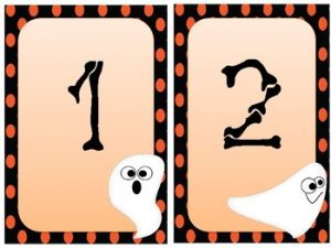 Halloween Number Flash Cards