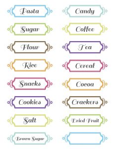 Kitchen Container Labels