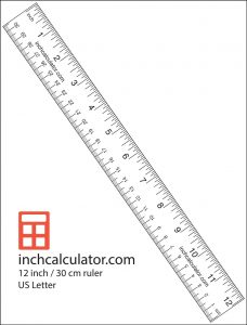 Labeled Ruler Printable