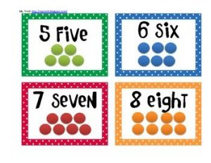 Number Dots Flash Cards