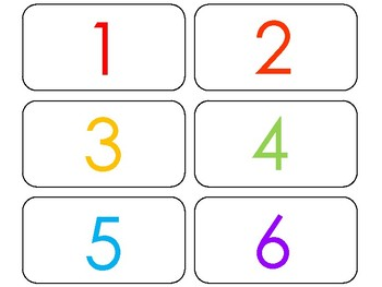This is an image of Revered Printable Number Flashcards