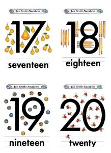 Number Flash Cards Template
