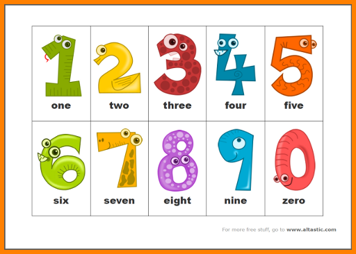 This is a photo of Sly Printable Number Cards 1 10