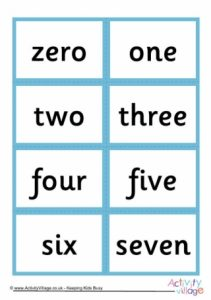 Number Words Flash Cards