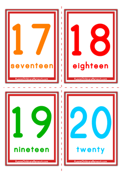 It is a graphic of Impeccable Printable Number Flashcards