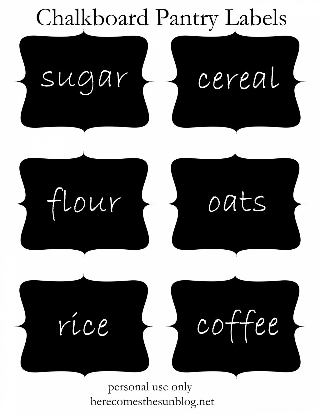 30 Pretty Kitchen or Pantry Labels | Kitty Baby Love