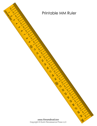 Printable Millimeter Ruler Online Actual Size