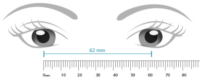 Peaceful image in printable millimeter ruler for eyeglasses