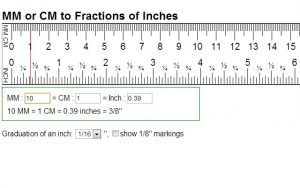 Printable Ruler Inches Actual Size Mm