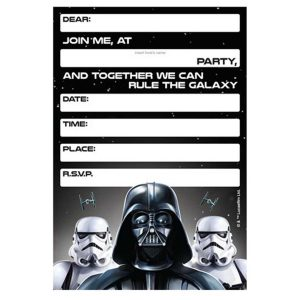 Star Wars 40th Birthday Invitations