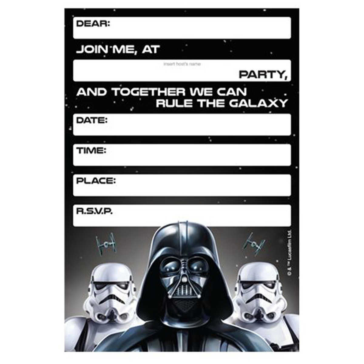 32 Amazing Star Wars Birthday Invitations Kittybabylove Com
