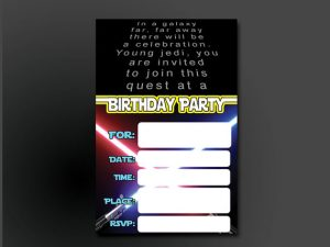 Star Wars 5th Birthday Party Invitations
