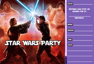 Star Wars Birthday Invitation Template Free