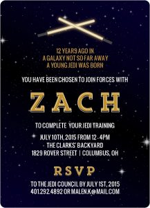 Star Wars Birthday Invitation Text