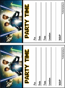 Star Wars Birthday Party Invitation Template Free