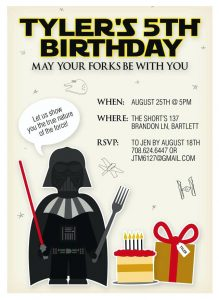 Star Wars Birthday Party Invitations Template Free