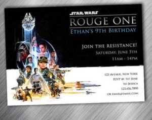 Star Wars Rogue One Birthday Party Invitations
