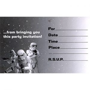 Star Wars Themed Birthday Invitations