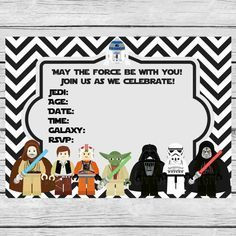 Star Wars Themed Birthday Party Invitation