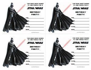 Star Wars Themed Birthday Party Invitations