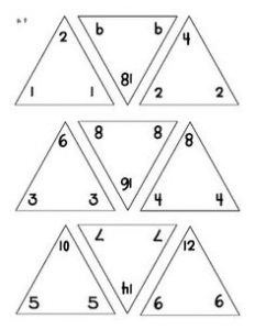 Triangle Flash Cards Addition Subtraction