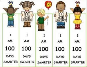 100th Day of School Bookmarks Printable