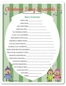 A Christmas Carol Word Scramble
