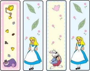 Alice in Wonderland Bookmarks Printable