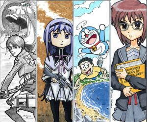 Anime Bookmarks Printable For Free