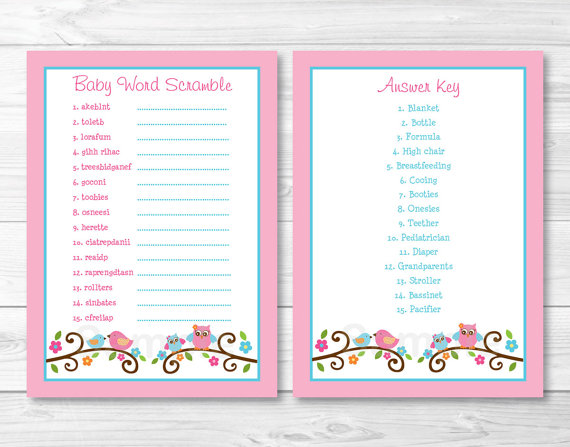 36 Adorable Baby Shower Word Scrambles Kitty Baby Love