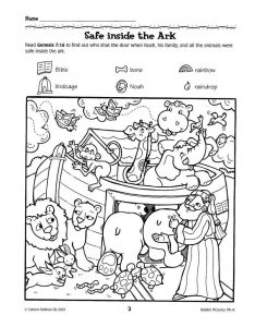 Bible Story Hidden Pictures Printable