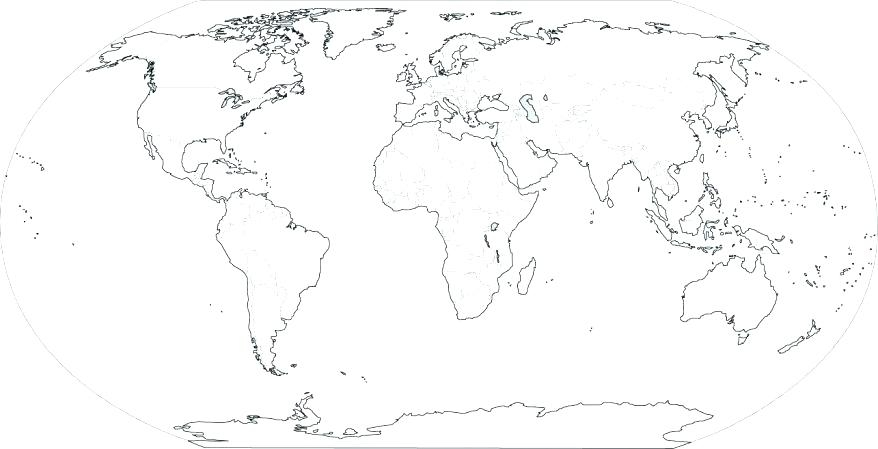 graphic relating to Printable Blank World Map known as 38 No cost Printable Blank Continent Maps