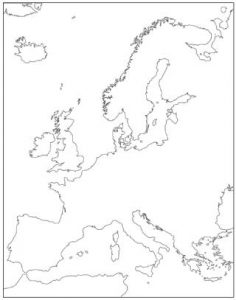 Blank Europe Continent Map