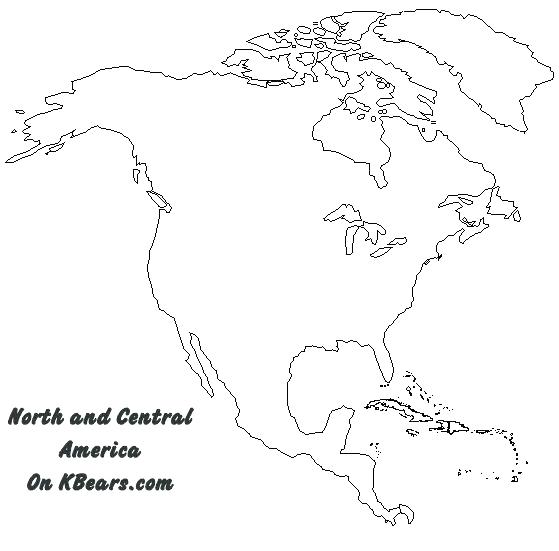 Fabulous image inside blank north america map printable